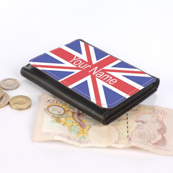 Personalised Union Jack Wallet - Union Jack Gifts