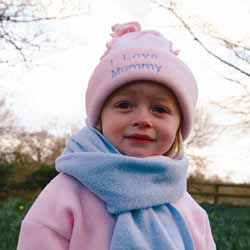 Fleece Hat Pale Pink
