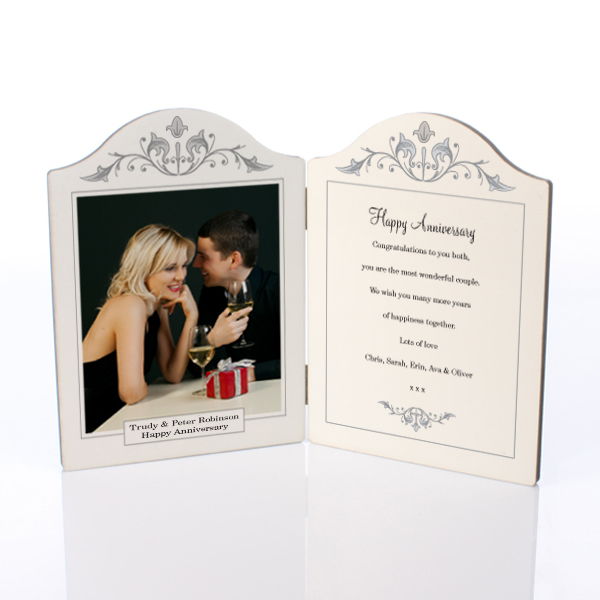 Wedding Anniversary Photo Message Plaque - Wedding Anniversary Gifts