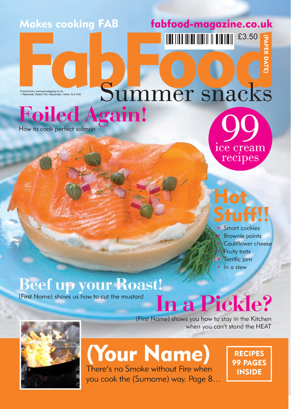 Food Magazine Spoof Silver Frame