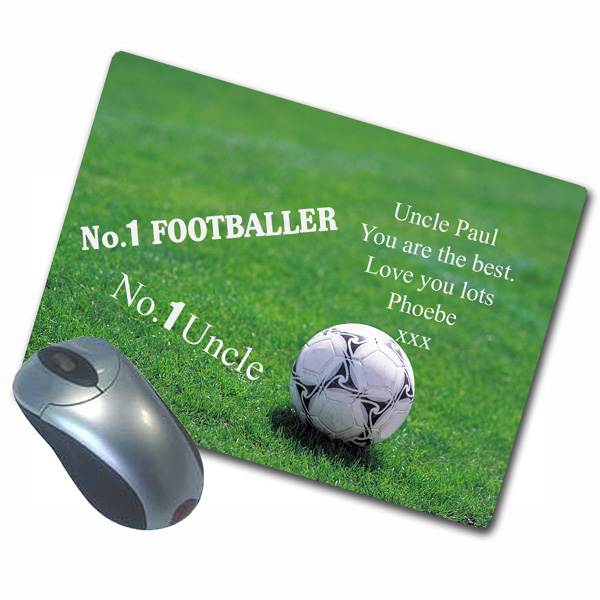 Personalised Sports Design Mousemat (Football Design) - Design Gifts