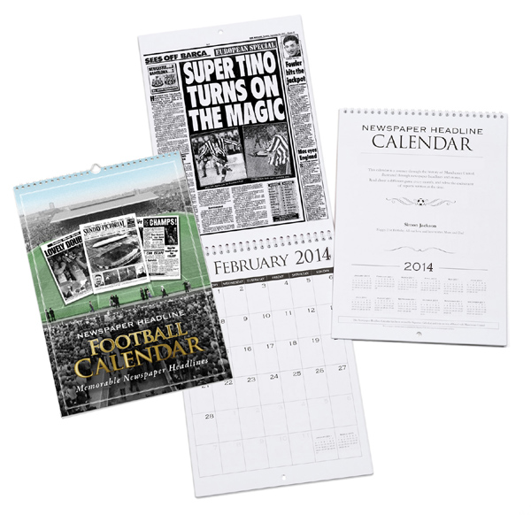 Personalised Football Calendar Aston Villa - Aston Villa Gifts
