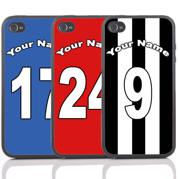 Personalised Football Shirt iPhone Cover - Available for 4/4S and 5 - Sport Gifts
