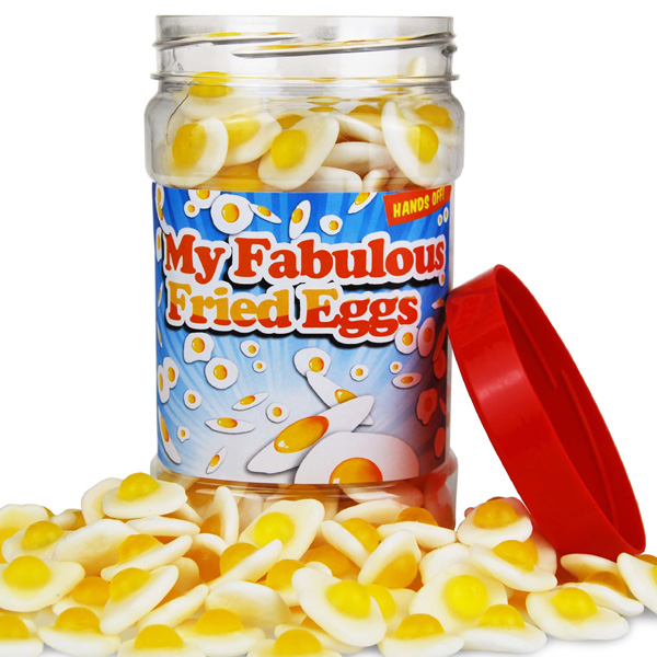 Retro Sweets Fabulous Fried Egg Jar - Retro Sweets Gifts