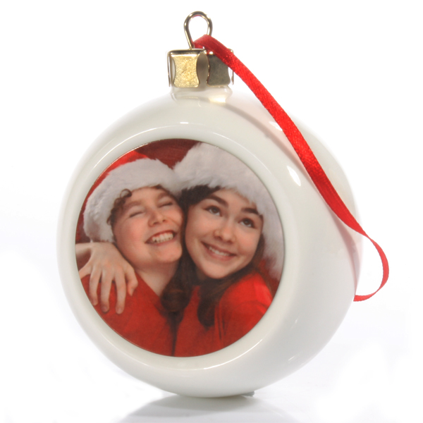 Personalised Friends Photo Bauble