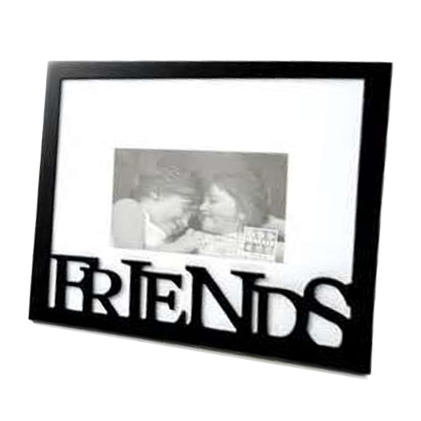 Carved Wood Friends Photo Frame