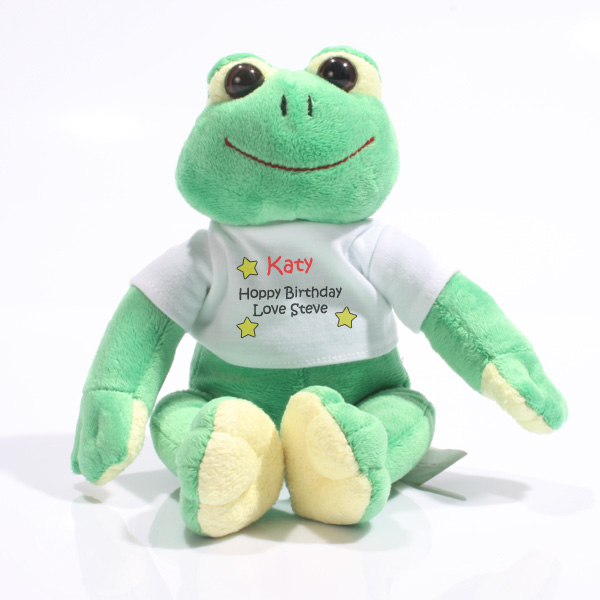 Personalised Happy Frog - Soft Toys Gifts