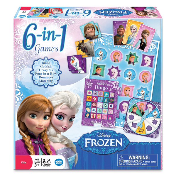 Disney Frozen 6-in-1 Game Collection - Game Gifts