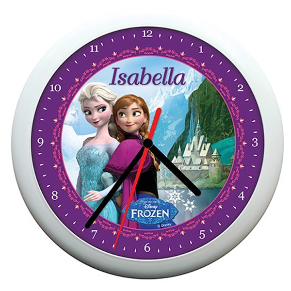 Personalised Disney Frozen Wall Clock - Disney Gifts