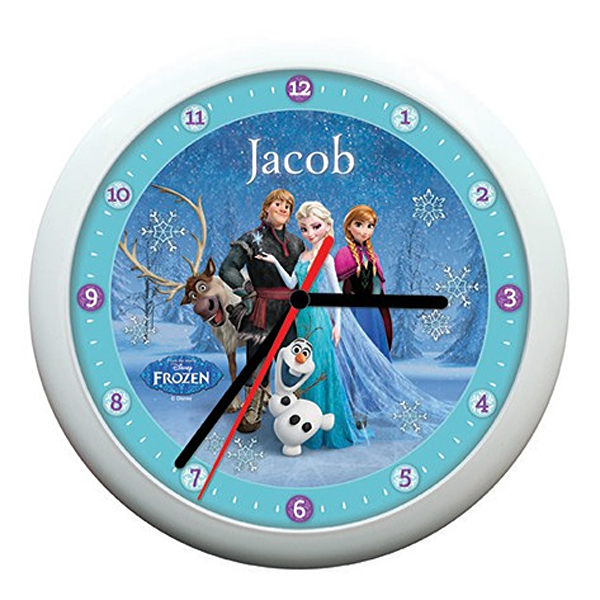 Personalised Disney Frozen Snowflake Clock