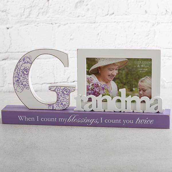 Grandma Blessings Photo Frame