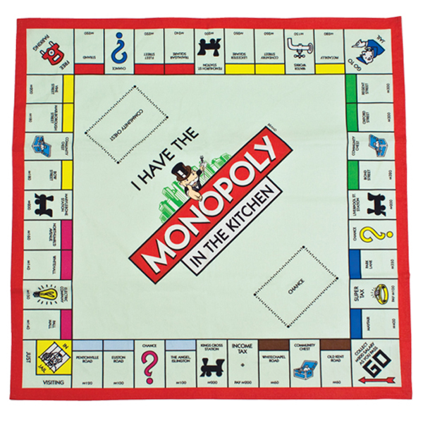 Monopoly Board Tea Towel - Monopoly Gifts
