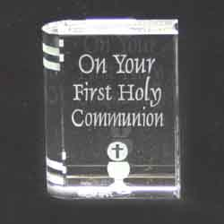 First Holy Communion Glass Book