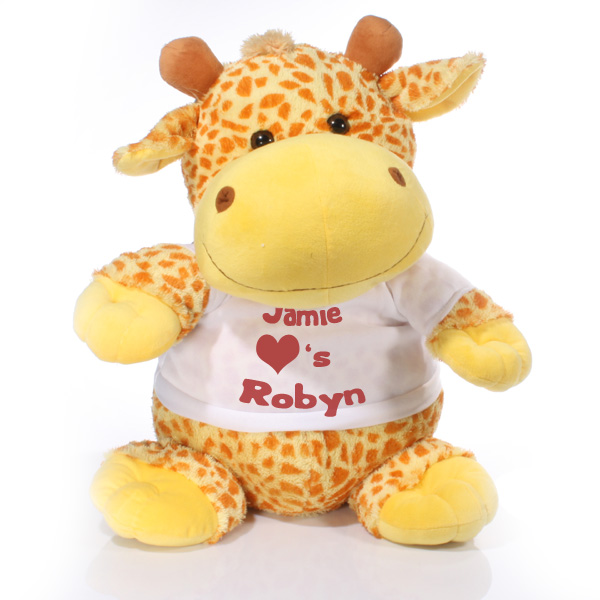 Extra Large Personalised Giraffe Soft Toy - Soft Toy Gifts