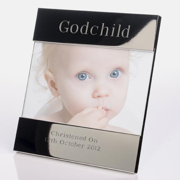 Engraved Godchild Photo Frame - Baby  Birthday Your Baby Gifts - Boys Christening