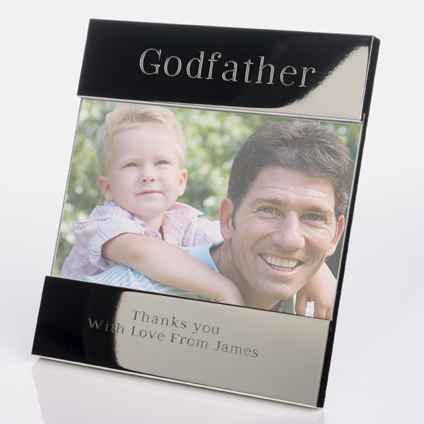 engraved godfather photo frame