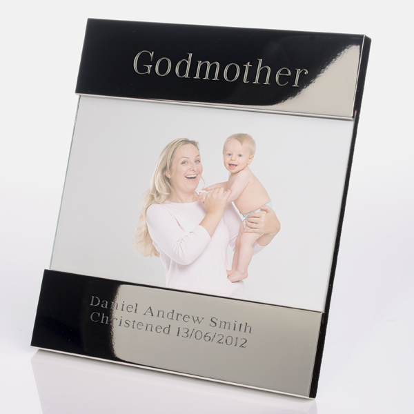 Engraved Godmother Photo Frame | The Gift Experience