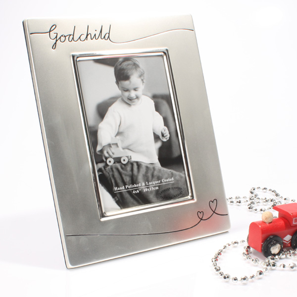 Godchild Satin Silver Plated Photo Frame - Photo Frame Gifts