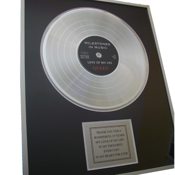 Personalised Gold Disc 12 Inch Disc