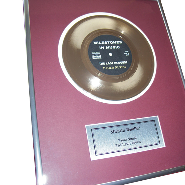 First Anniversary Edition - Personalised Gold Disc 7 Inch Disc