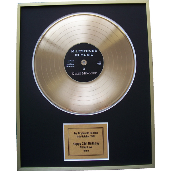 First Anniversary Edition - Personalised Gold Disc 12 Inch Disc