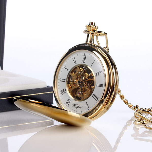 Gold Plated Personalised Pocket Watch