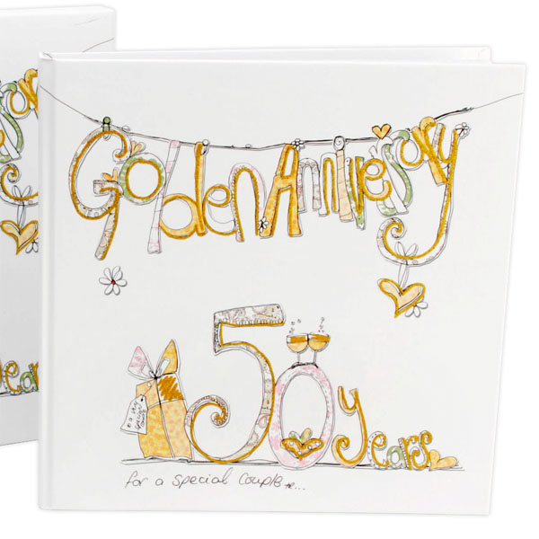 Golden Wedding Anniversary Scrapbook - Wedding Anniversary Gifts