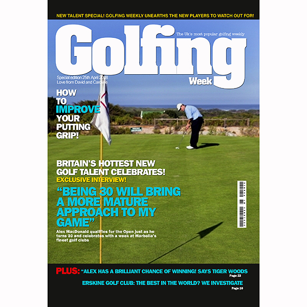 Personalised Sports Magazine Cover Golf