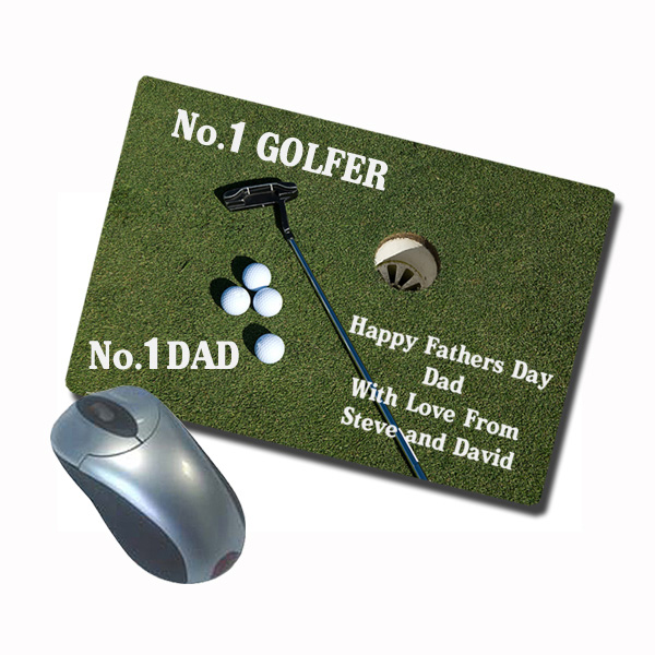 Personalised Sports Design Mousemat (Golf Design) - Design Gifts
