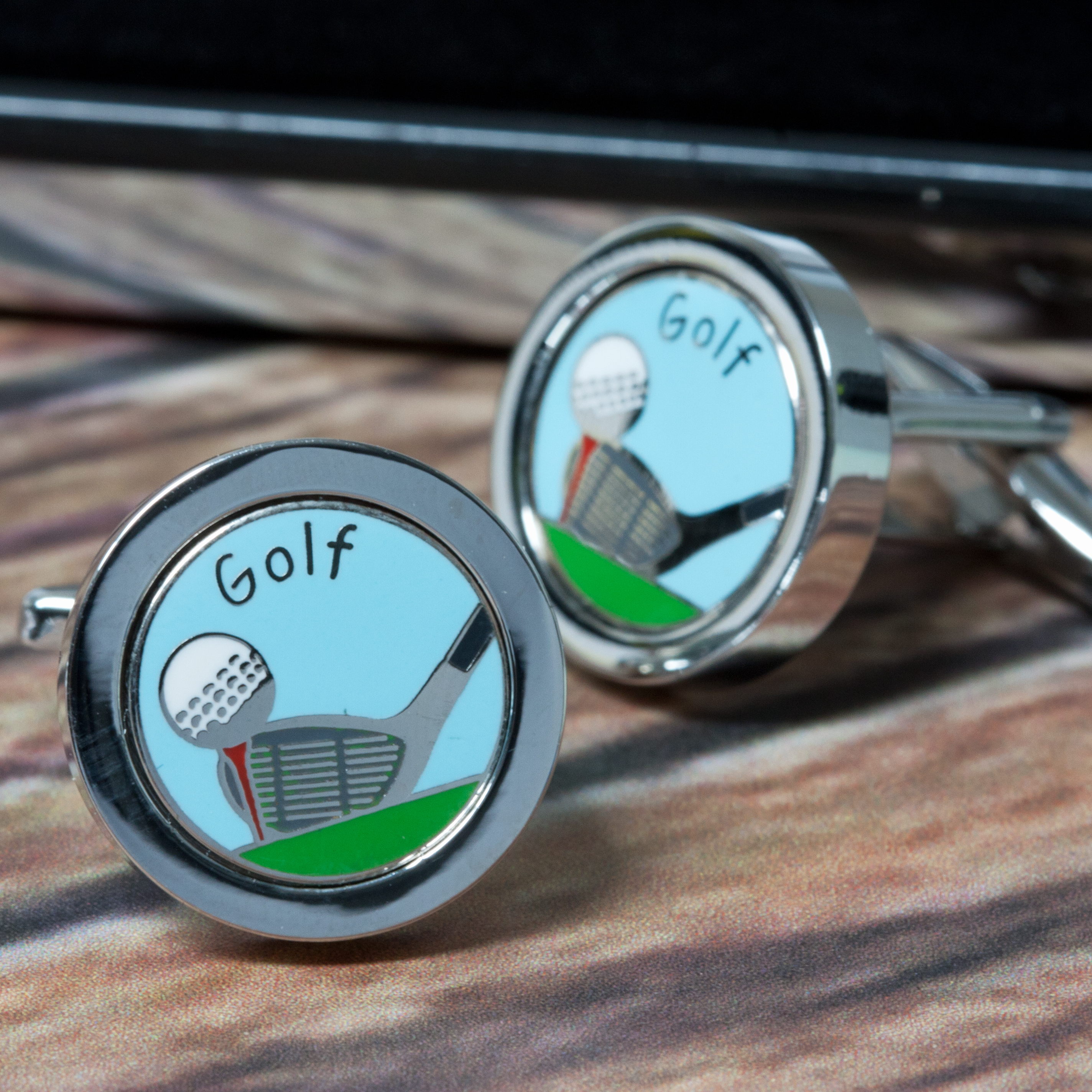 Personalised Golf Club and Ball Cufflinks