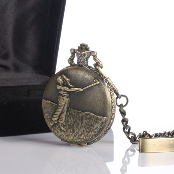 Pocket Watch with Golf Design - Design Gifts