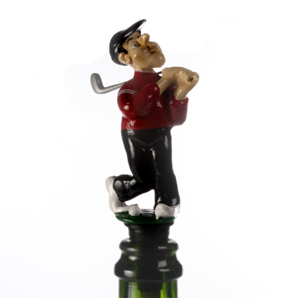 Golf Player Bottle Stopper