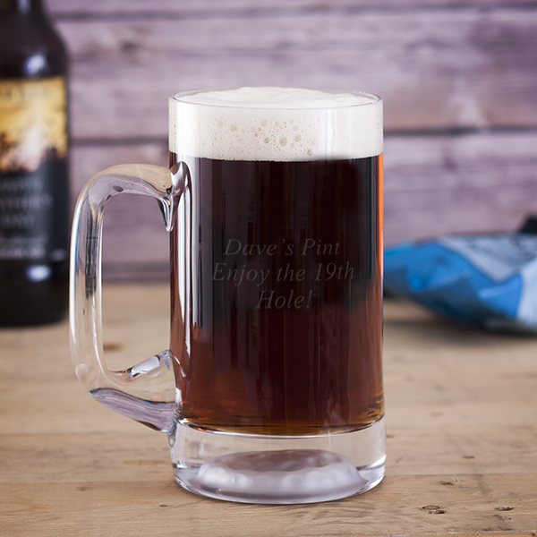 Personalised Golf Ball Pint Tankard