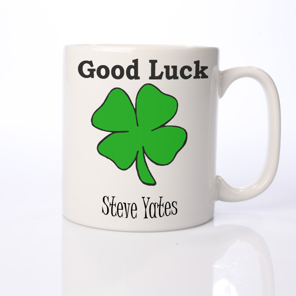Good Luck Personalised Mug