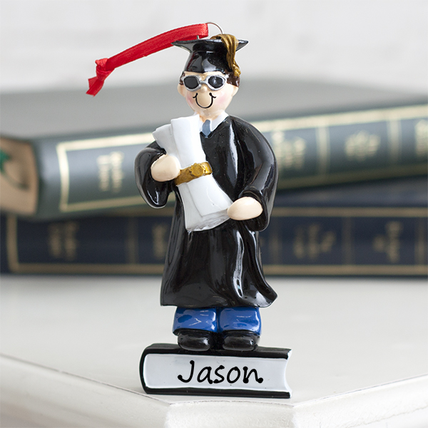 Personalised Graduate Boy Hanging Ornament - Ornament Gifts