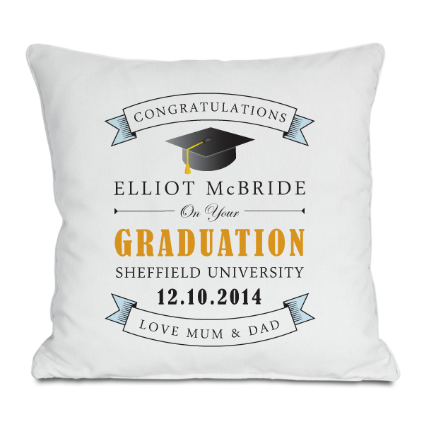 Personalised Graduation Cushion - Graduation Gifts