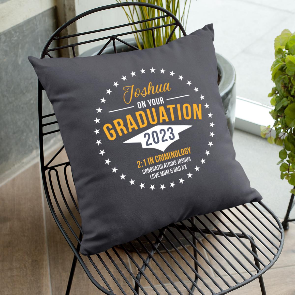 Personalised Graduation Cushion - Graduation Gifts