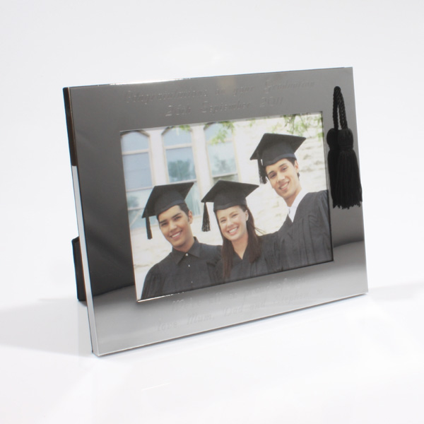 Personalised Chrome Graduation Frame - Graduation Gifts