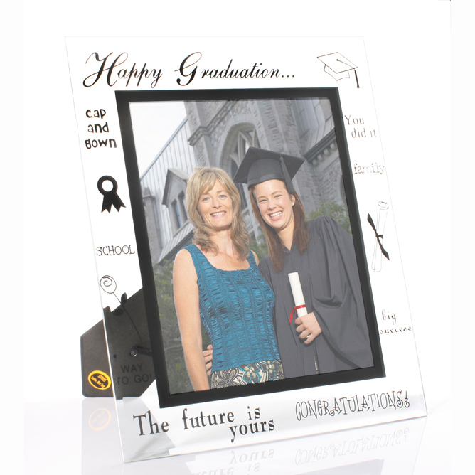 Large Glass Graduation Photo Frame - Graduation Gifts