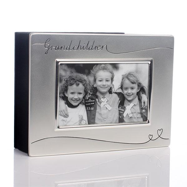 Silver Plated Grandchildren Photo Album - Grandchildren Gifts
