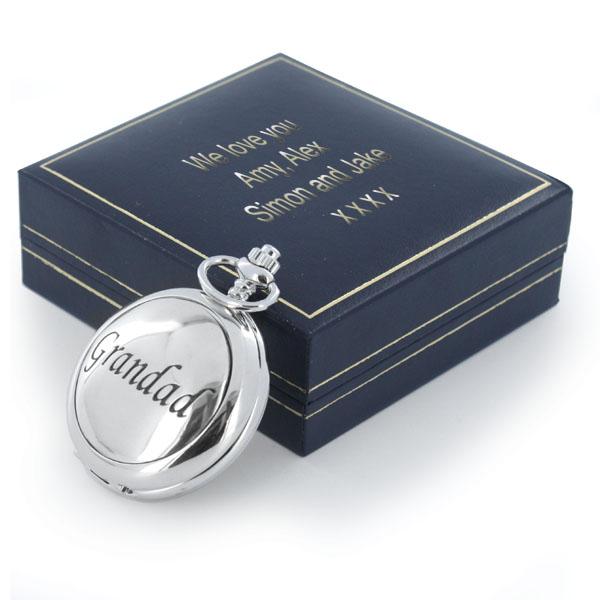 Grandad Pocket Watch in Personalised Gift Box - Grandad Gifts