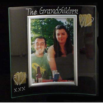 The Grandchildren Glass Frame - Grandchildren Gifts