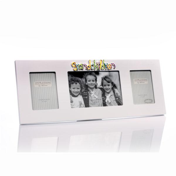 Grandchildren Triple Photo Frame - Grandchildren Gifts