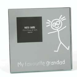 My Favourite Grandad Glass Mirror Frame