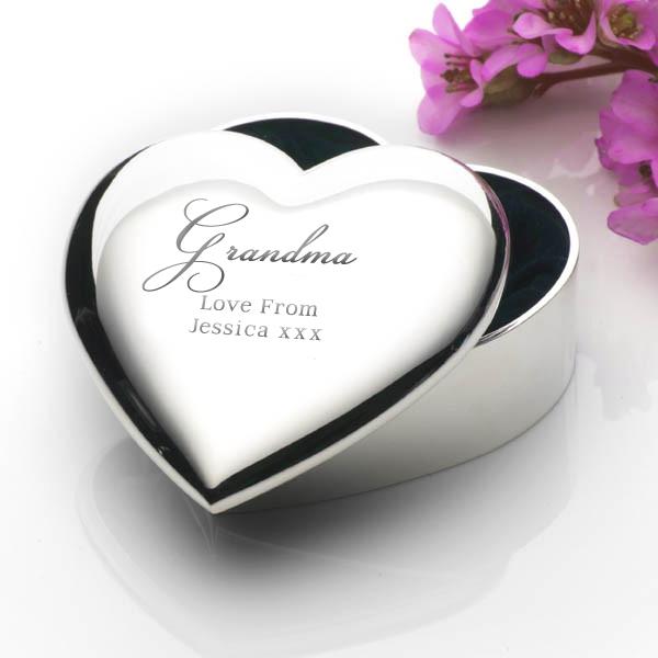 Engraved Grandma Heart Trinket Box - Grandma Gifts