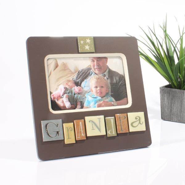 Grandpa Tile Photo Frame - Photo Frame Gifts