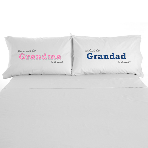 Grandparents Personalised Pillowcases Pair