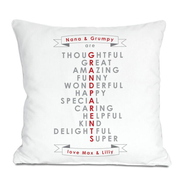 Grandparents Words Personalised Cushion