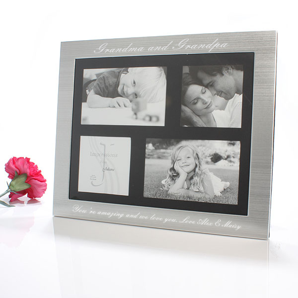 Engraved Grandchildren Frame Collage Gift Shop