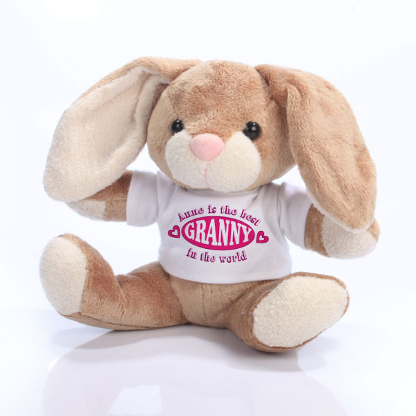 The Best Granny in the World Personalised Bunny Rabbit - Rabbit Gifts